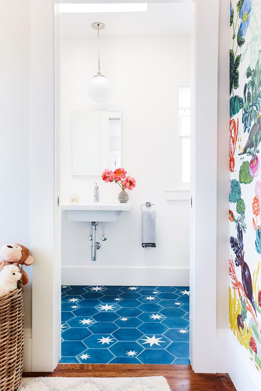 Шестигранна плитка в ванну кімнату