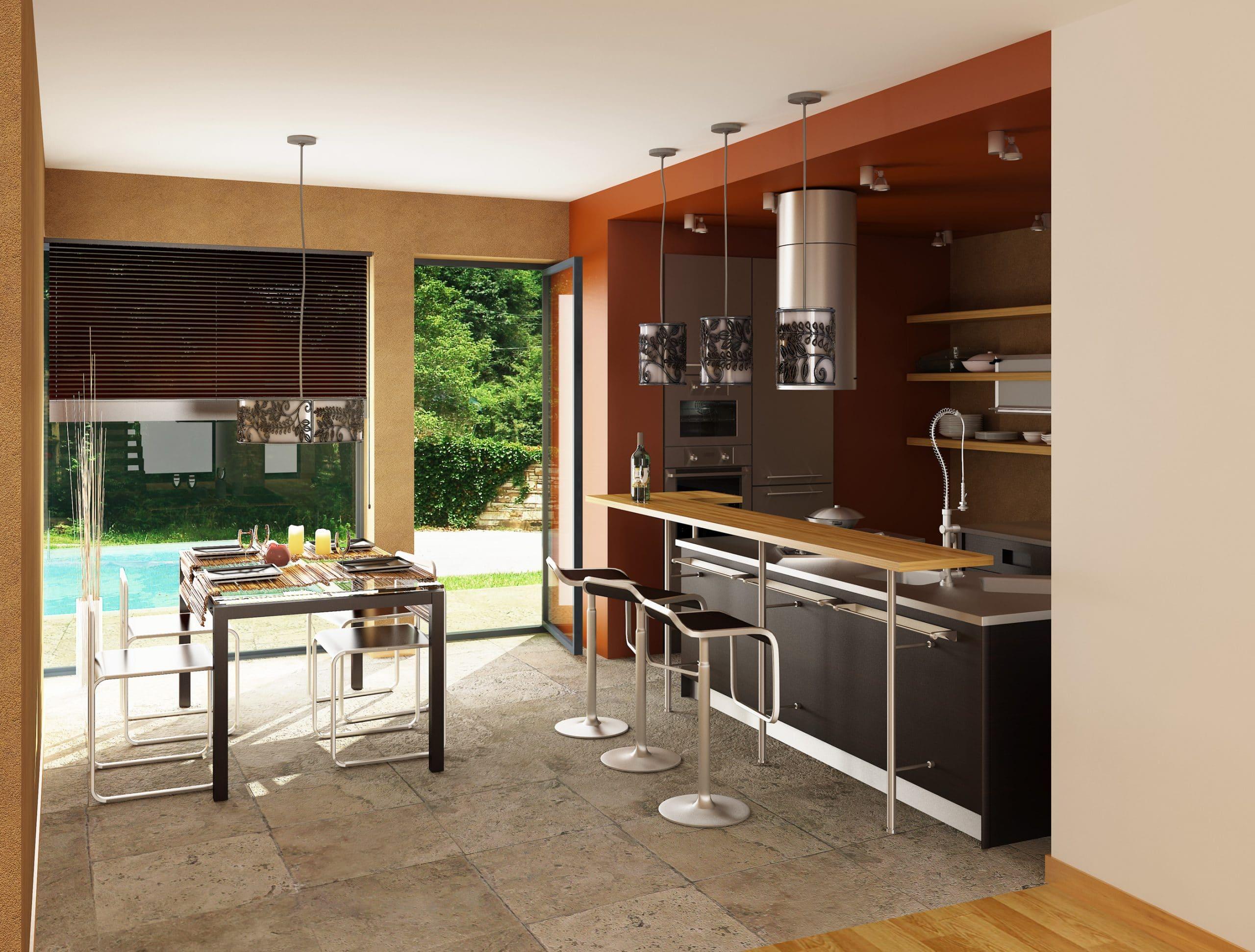 terracota kitchen